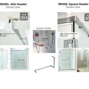 Reh400 Frameless Shower Screen Reliance Home
