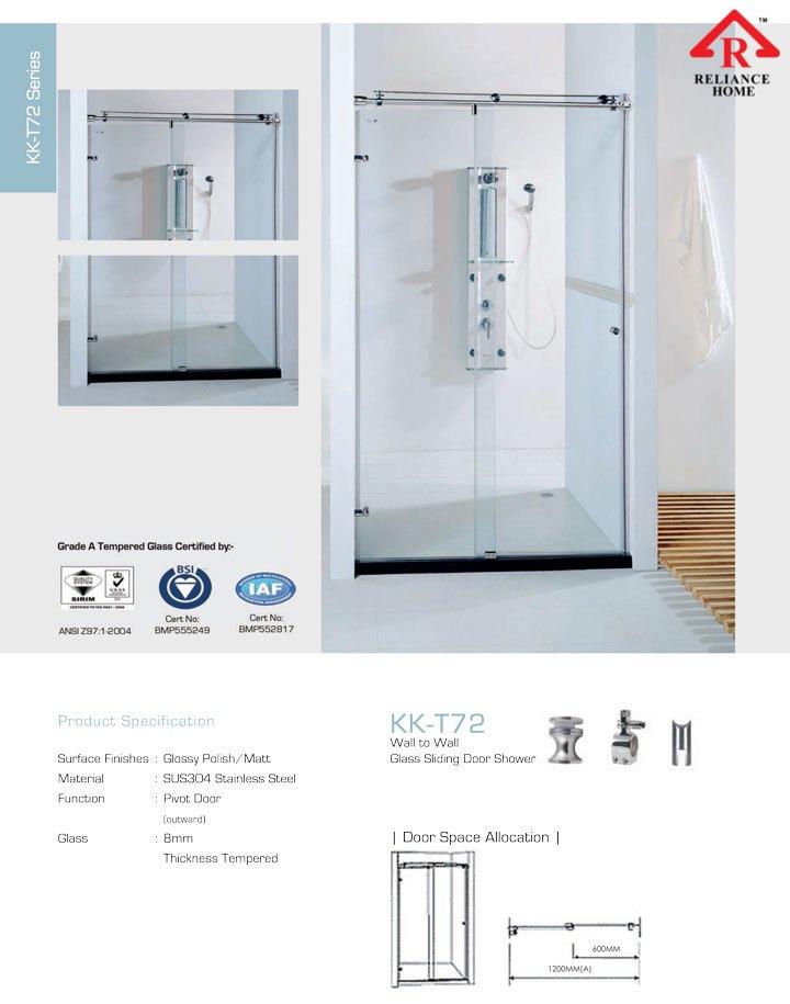 Kk T72 Wall To Wall Frameless Shower Reliance Home