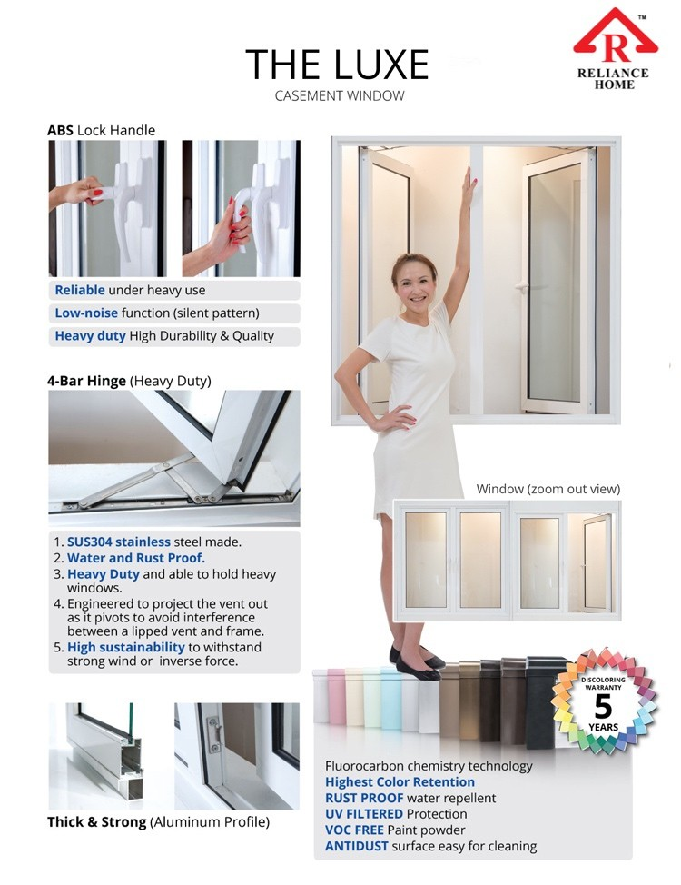 Casement Window The Luxe Series Reliance Home