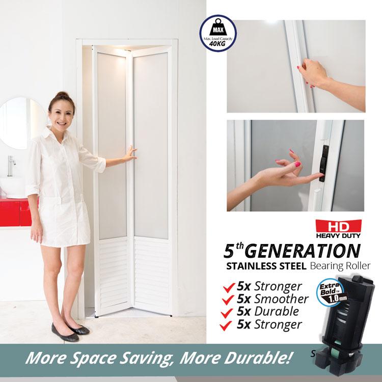 Bifold Door Fd117 1 4 Lourves Acrylic Sp11 Reliance Home