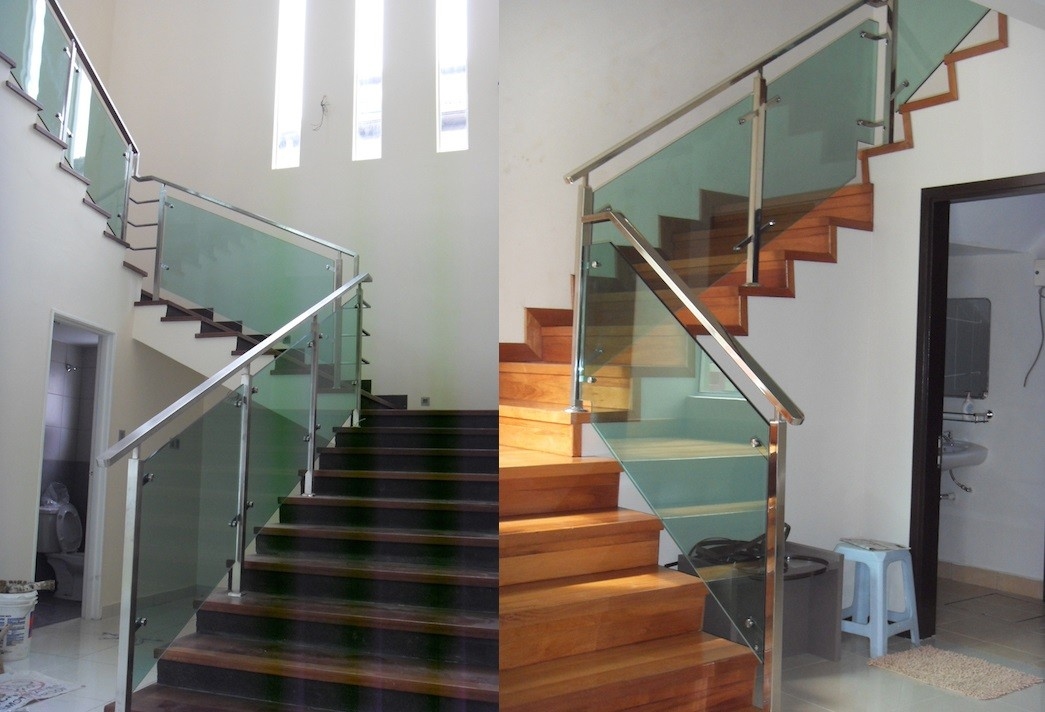 glass staircase, glass staircase, glass rail, staircase, staircase malaysia, malaysia staircase, staircase design, railing, glass railing