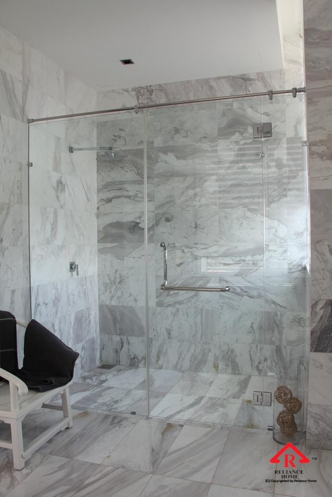 Reliance Home REH100 frameless shower screen-12