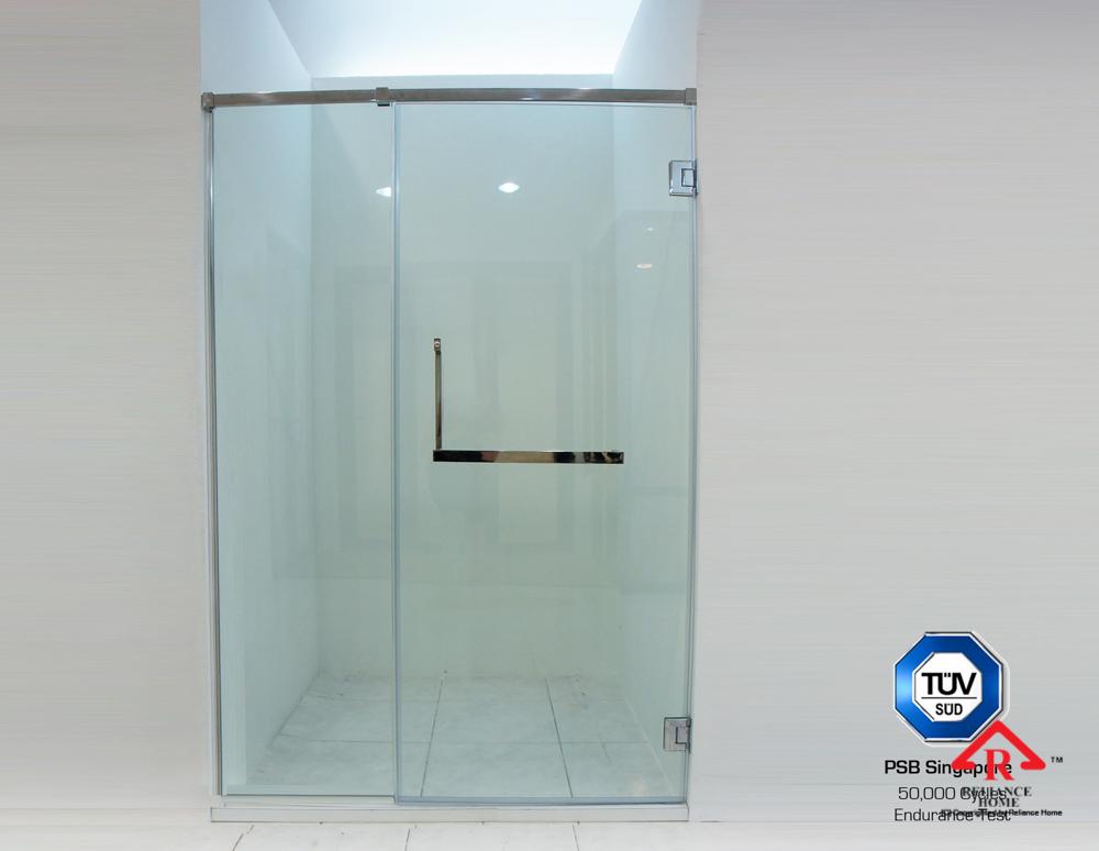 Reliance Home REHSQ frameless shower screen-3