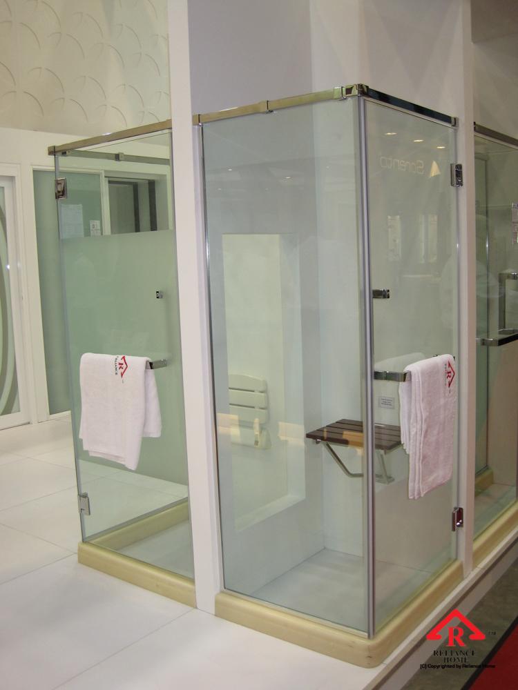 Reliance Home REHSQ frameless shower screen