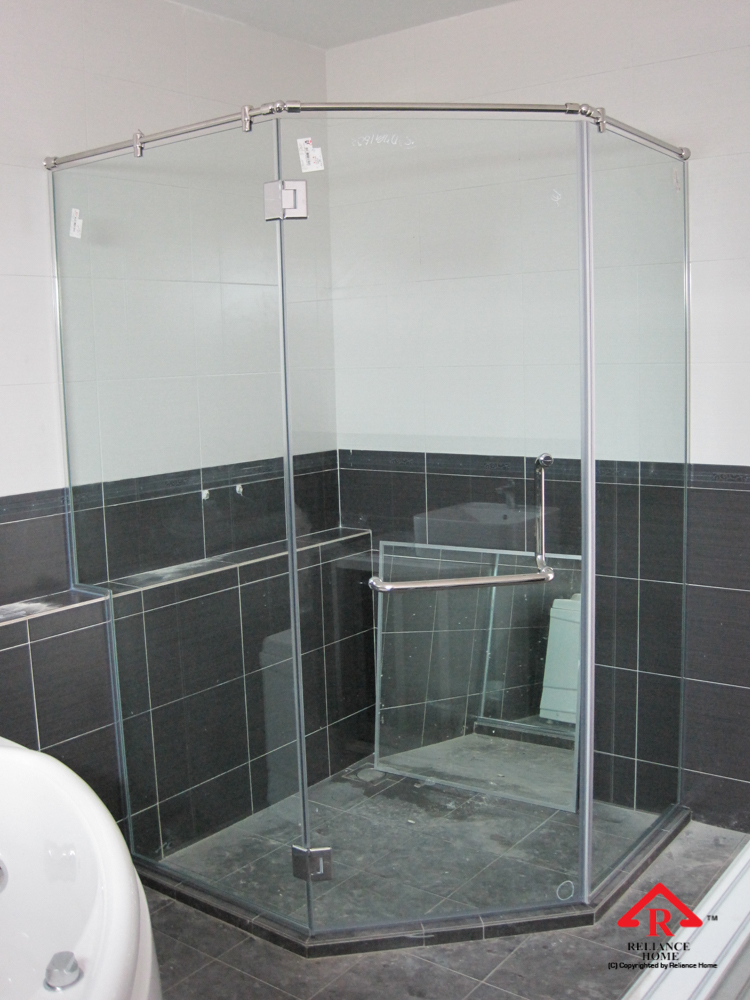 Reliance Home REHSR frameless shower screen-11
