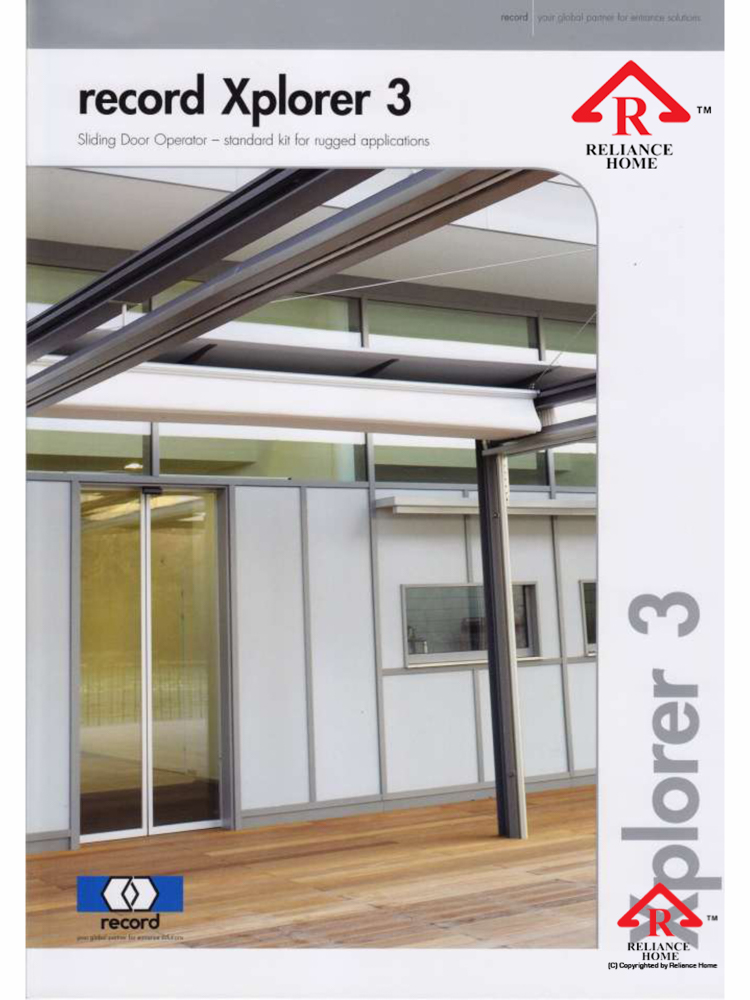 Reliance Home automatic framed sliding door-3
