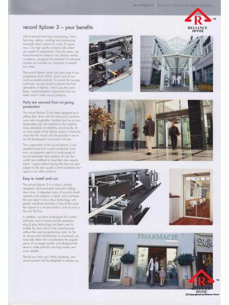 Reliance Home automatic frameless sliding door-5