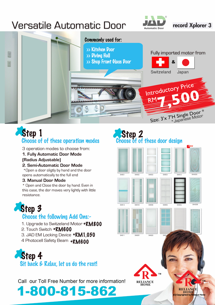 Reliance Home automatic frameless sliding door-7