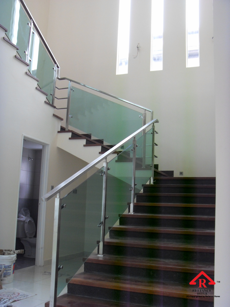 Reliance Home staircase glass-11
