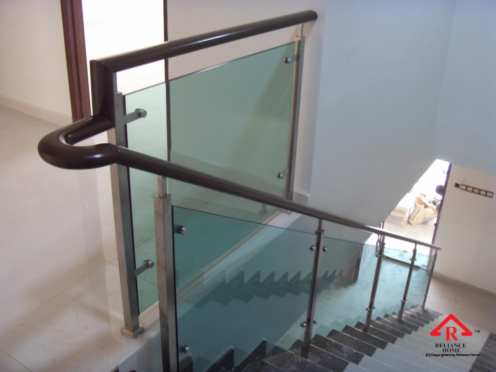 Reliance Home staircase glass-14