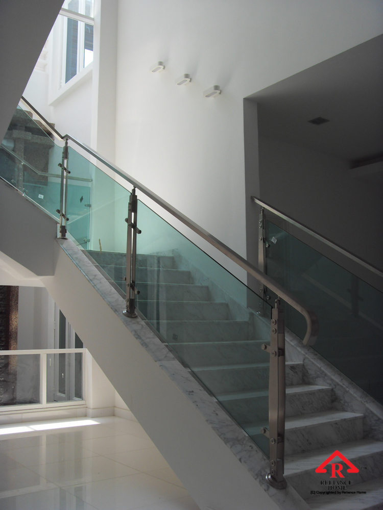 Reliance Home staircase glass-17