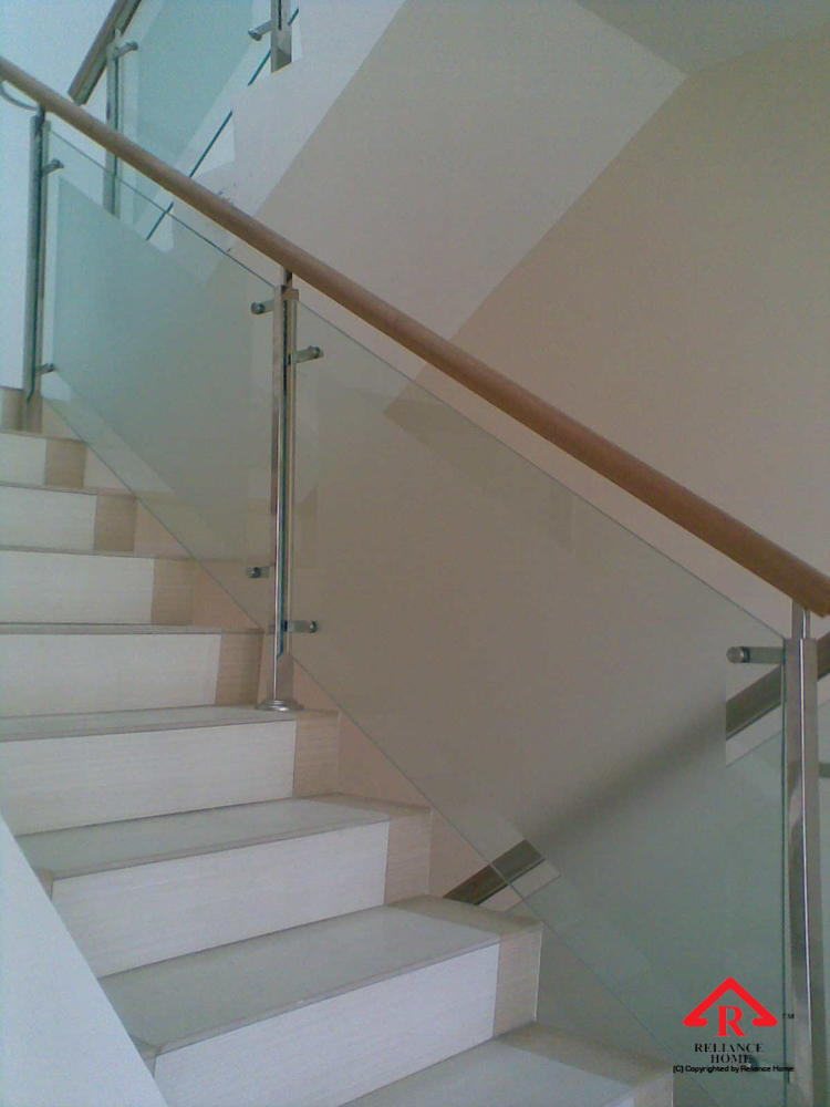 Reliance Home staircase glass-2