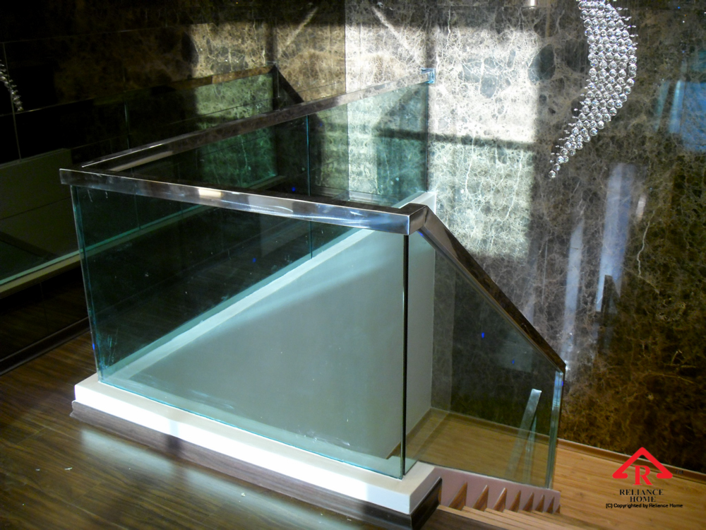 Reliance Home staircase glass embedded U channel-10