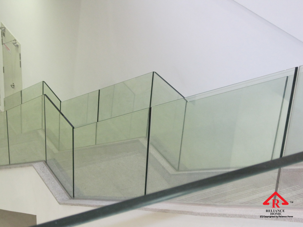 Reliance Home staircase glass embedded U channel-13