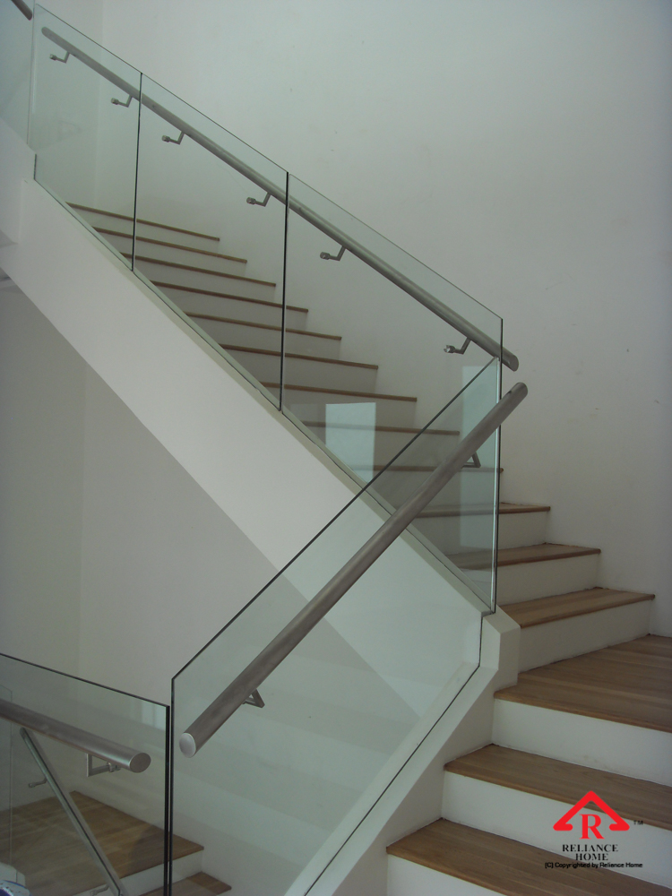 Reliance Home staircase glass embedded U channel-19