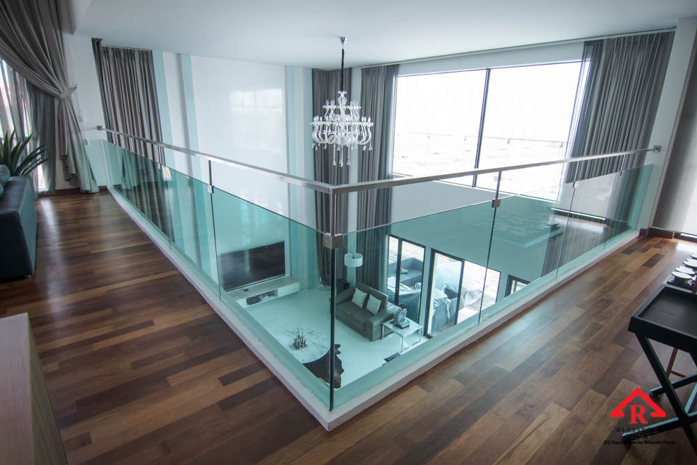 Reliance Home staircase glass embedded U channel-27