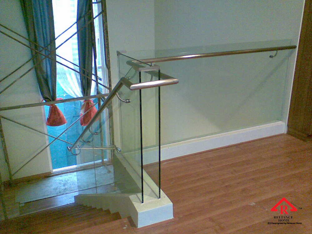 Reliance Home staircase glass embedded U channel-8