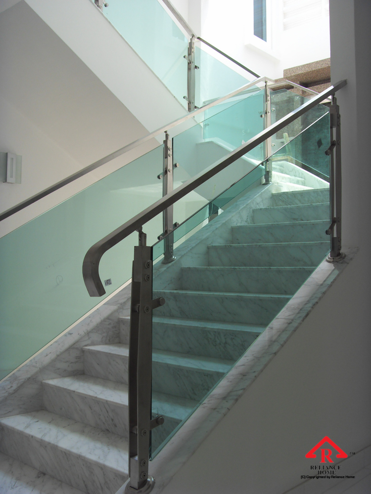 Reliance Home staircase glass embedded U channel-9