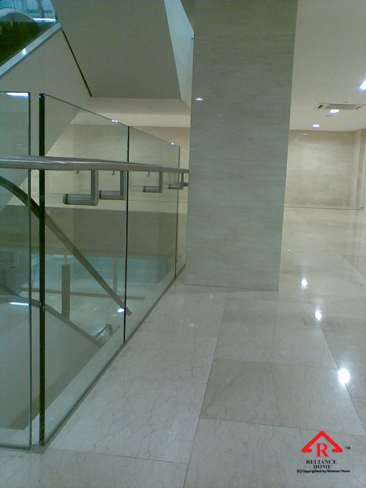 Reliance Home staircase glass embedded U channel