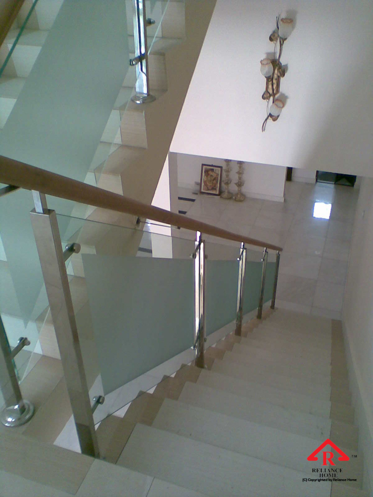 Reliance Home staircase glass