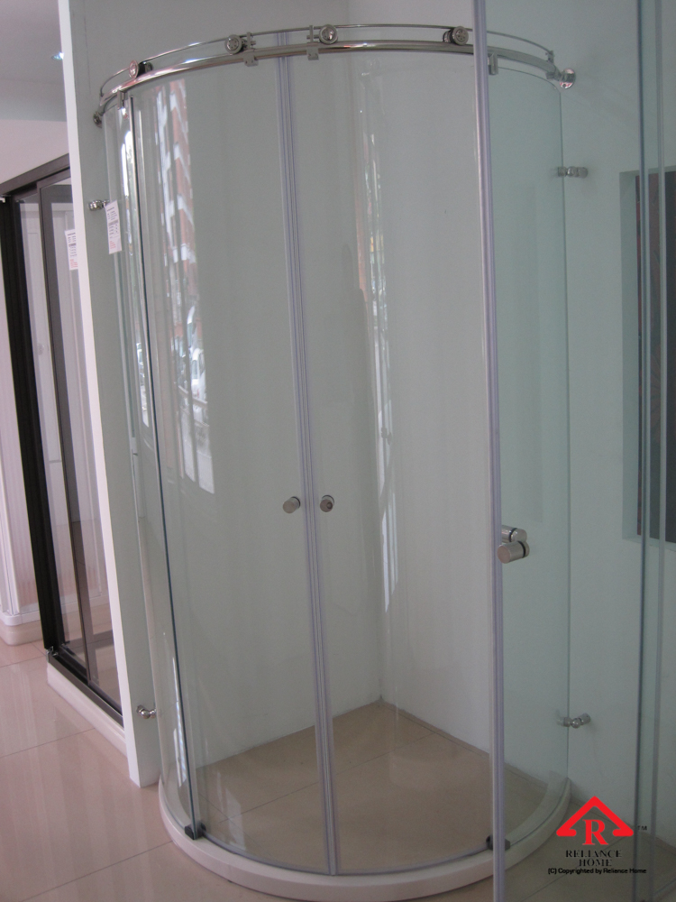 Reliance Home KK-T41 frameless shower screen sliding curve shape-3
