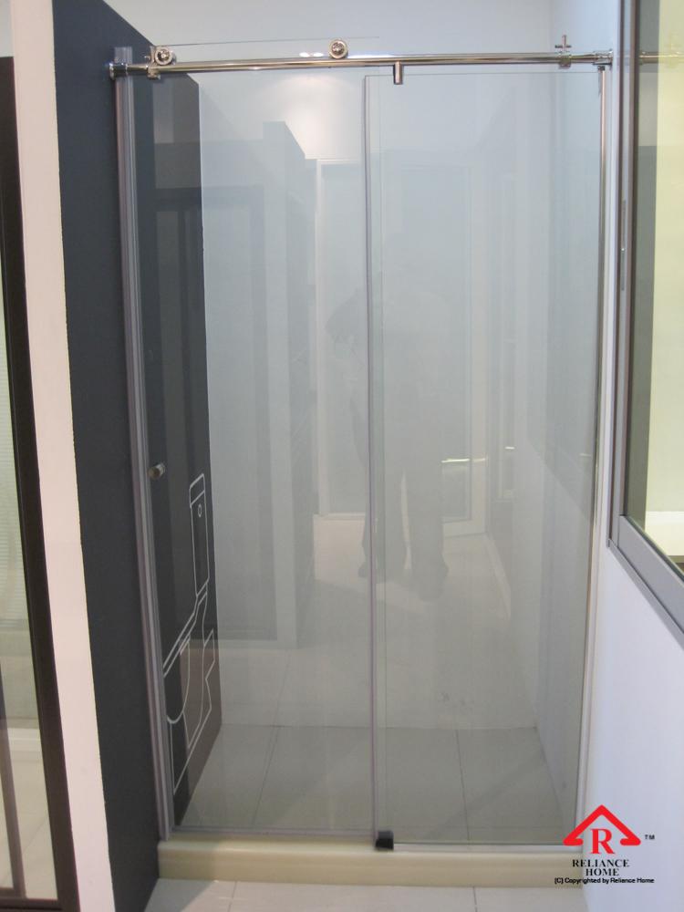 Reliance Home KK-T71 frameless shower screen sliding straight wall to wall-3