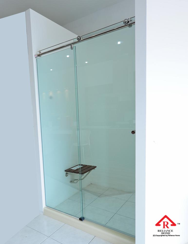 Reliance Home KK-T71 frameless shower screen sliding straight wall to wall-6