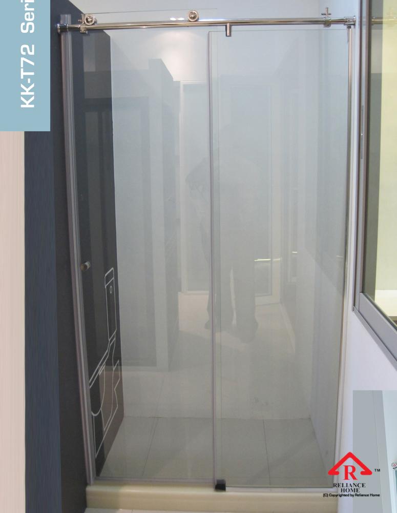 Reliance Home KK-T71 frameless shower screen sliding straight wall to wall-7