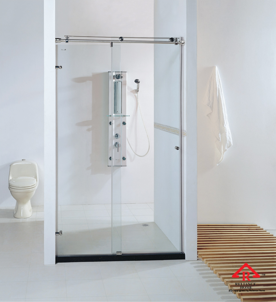 Reliance Home KK-T71 frameless shower screen sliding straight wall to wall
