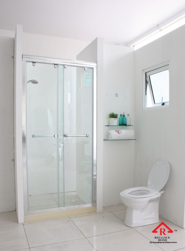 Reliance Home RS5028 sliding frameless shower screen-10