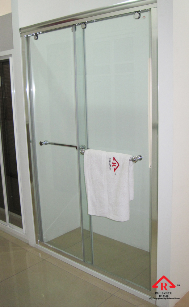 Reliance Home RS5028 sliding frameless shower screen-11
