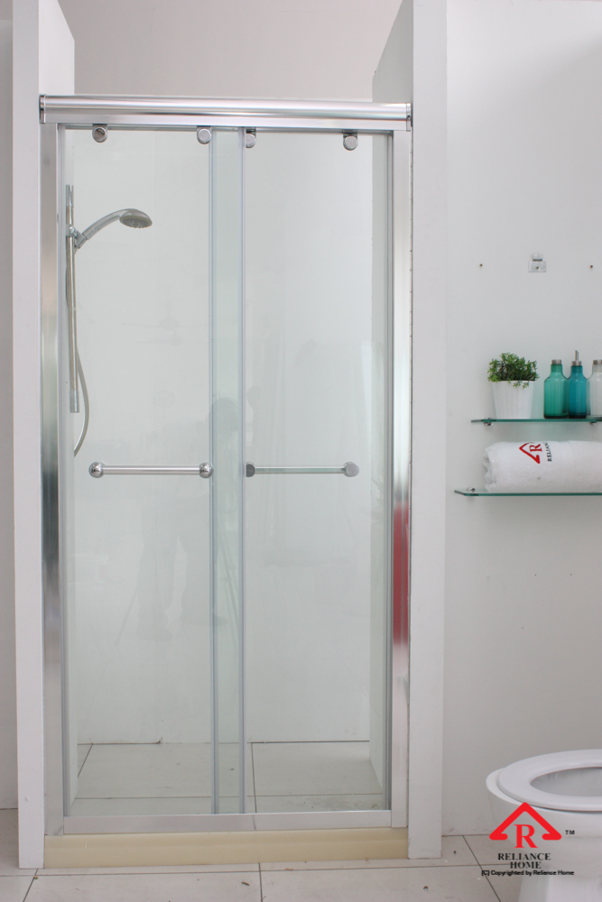 Reliance Home RS5028 sliding frameless shower screen-2