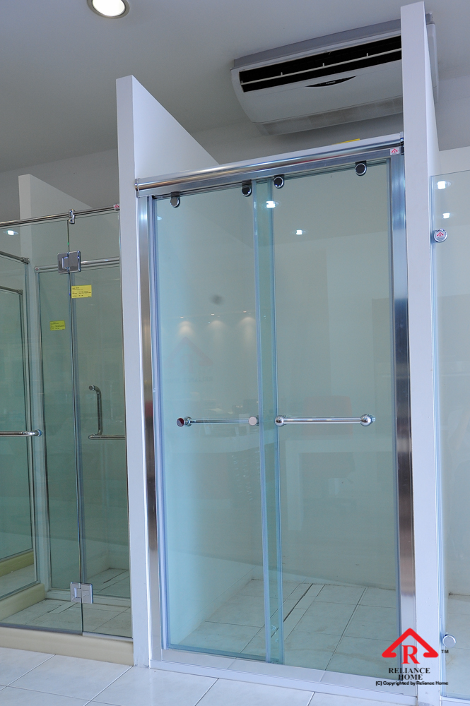 Reliance Home RS5028 sliding frameless shower screen-5