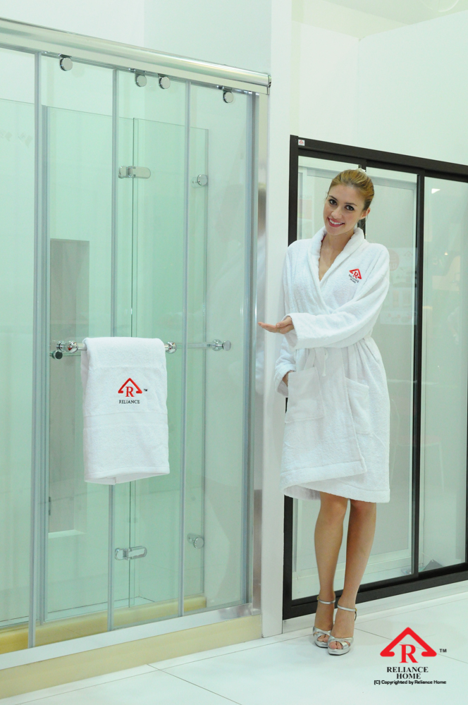 Reliance Home RS5028 sliding frameless shower screen-6