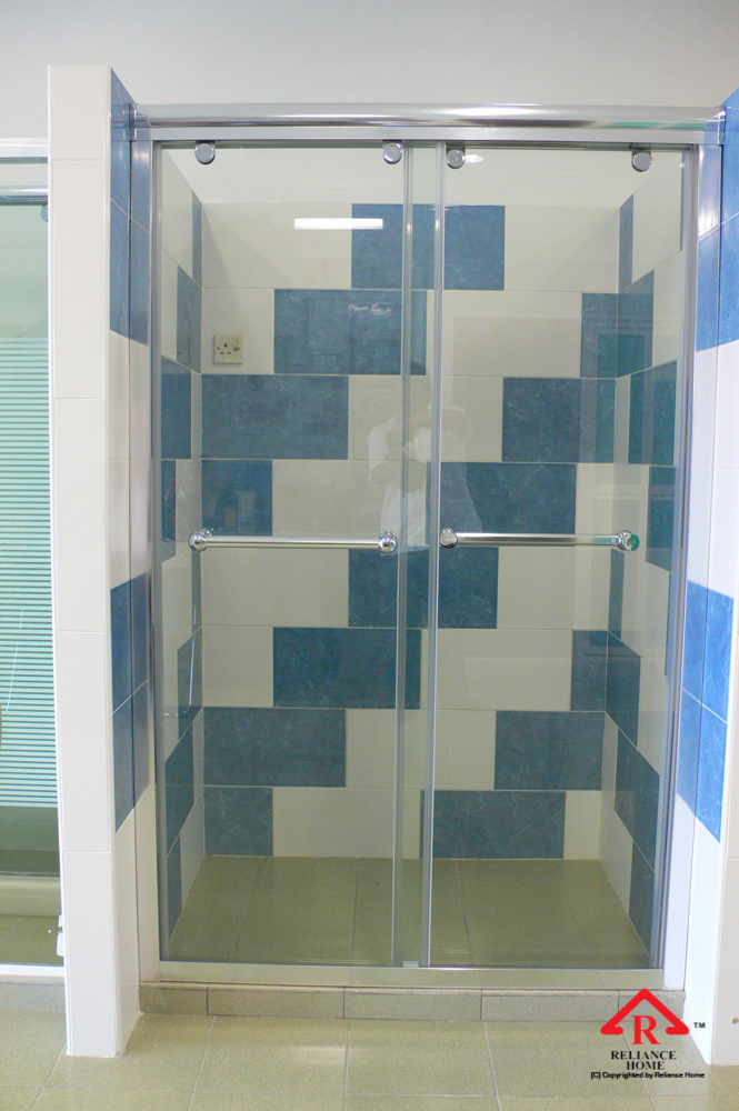 Reliance Home RS5028 sliding frameless shower screen