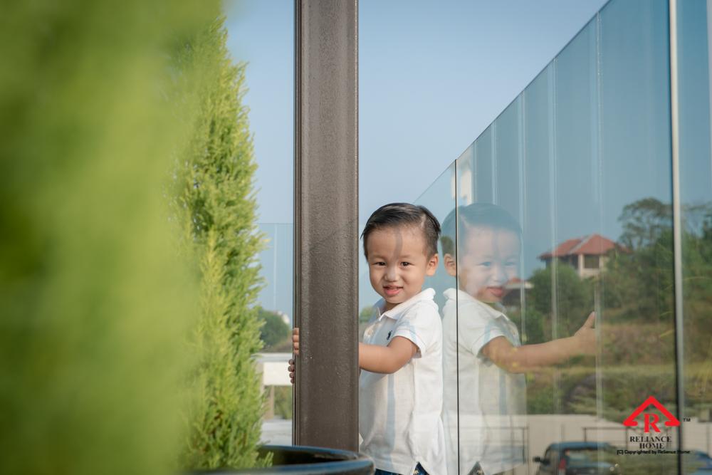 Reliance Home balcony glass U-channel type-102