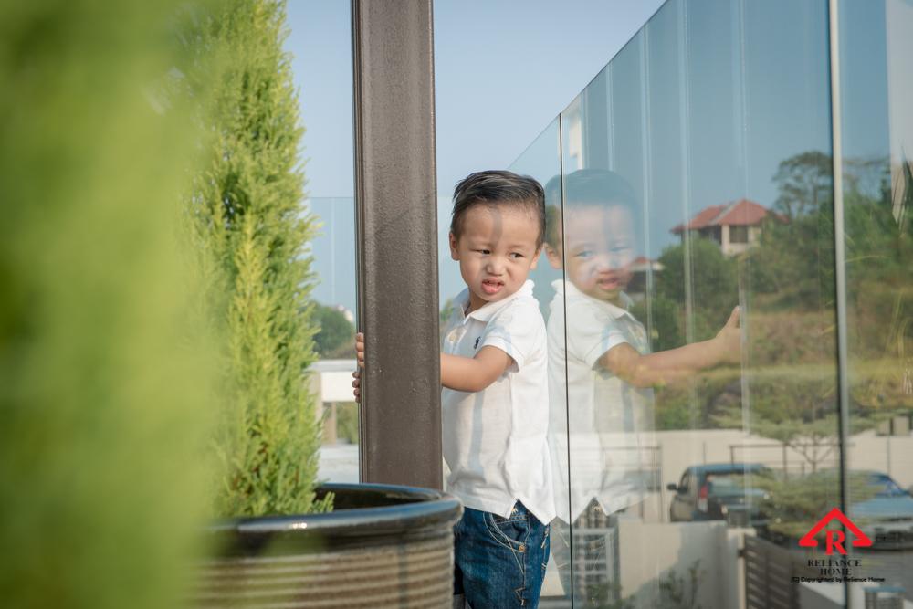 Reliance Home balcony glass U-channel type-103