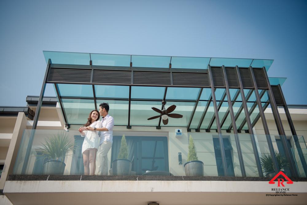 Reliance Home balcony glass U-channel type-105