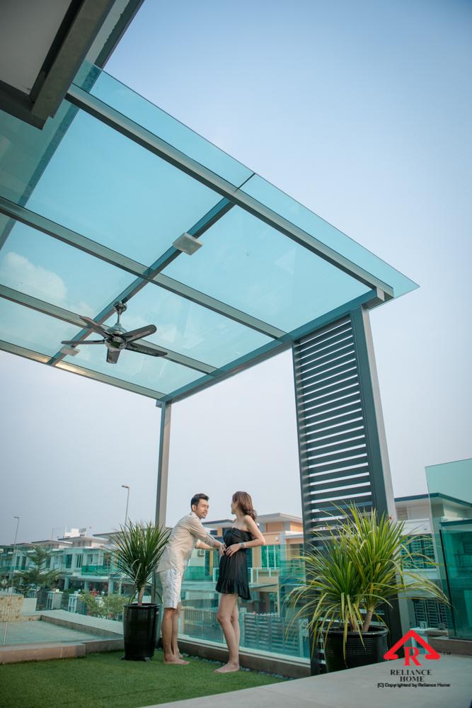 Reliance Home balcony glass U-channel type-108