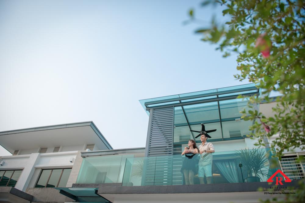 Reliance Home balcony glass U-channel type-111