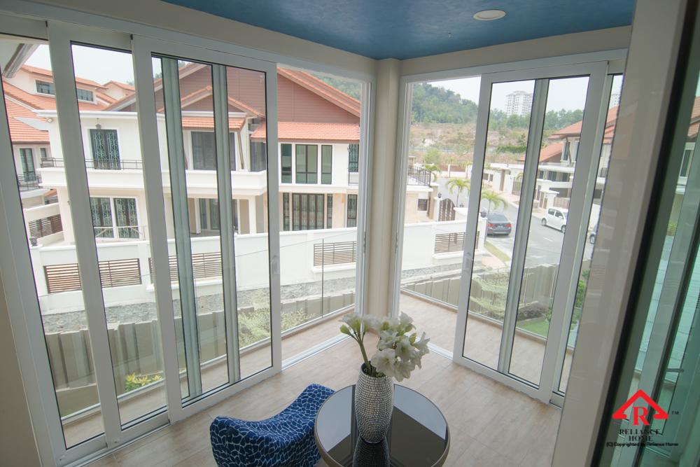 Reliance Home balcony glass U-channel type-120