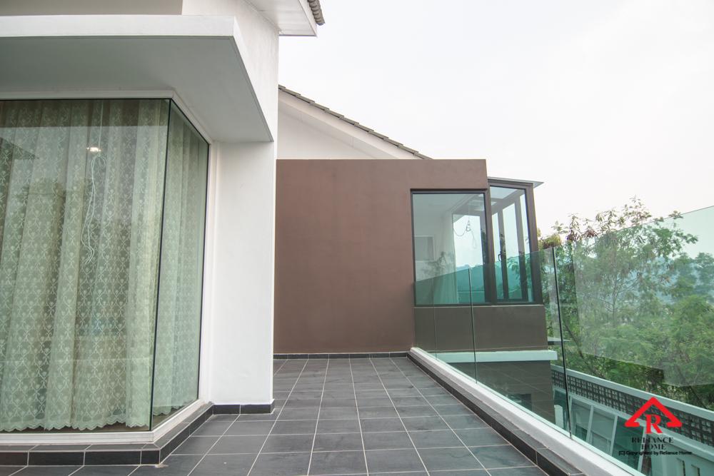 Reliance Home balcony glass U-channel type-127