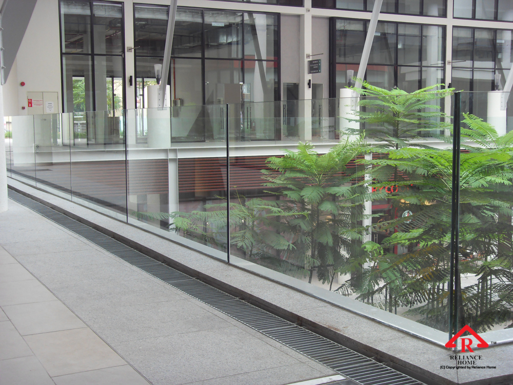 Reliance Home balcony glass U-channel type-13