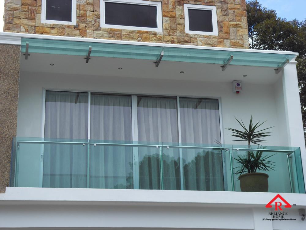 Reliance Home balcony glass U-channel type-18