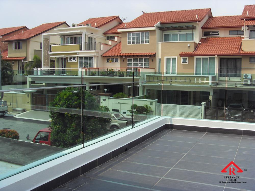 Reliance Home balcony glass U-channel type-19