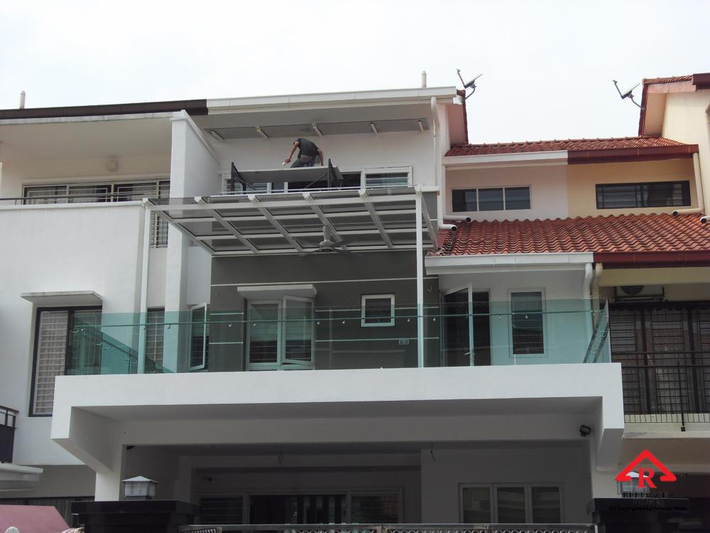 Reliance Home balcony glass U-channel type-21