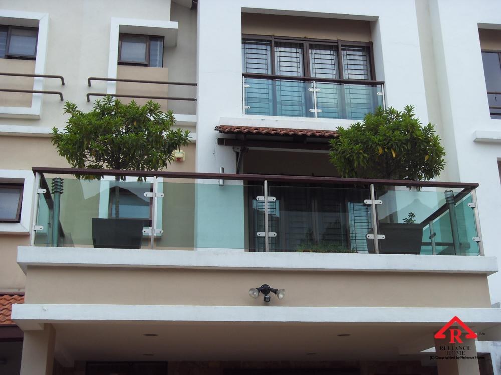 Reliance Home balcony glass U-channel type-24