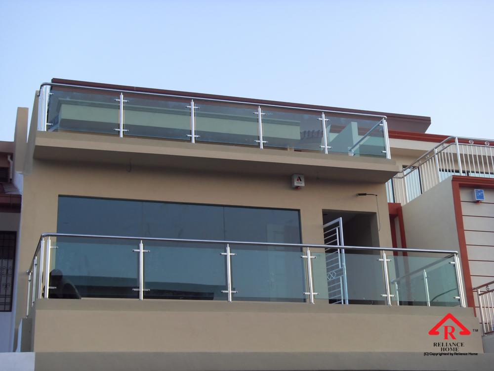 Reliance Home balcony glass U-channel type-25
