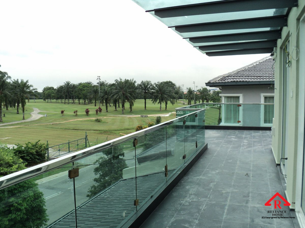 Reliance Home balcony glass U-channel type-35