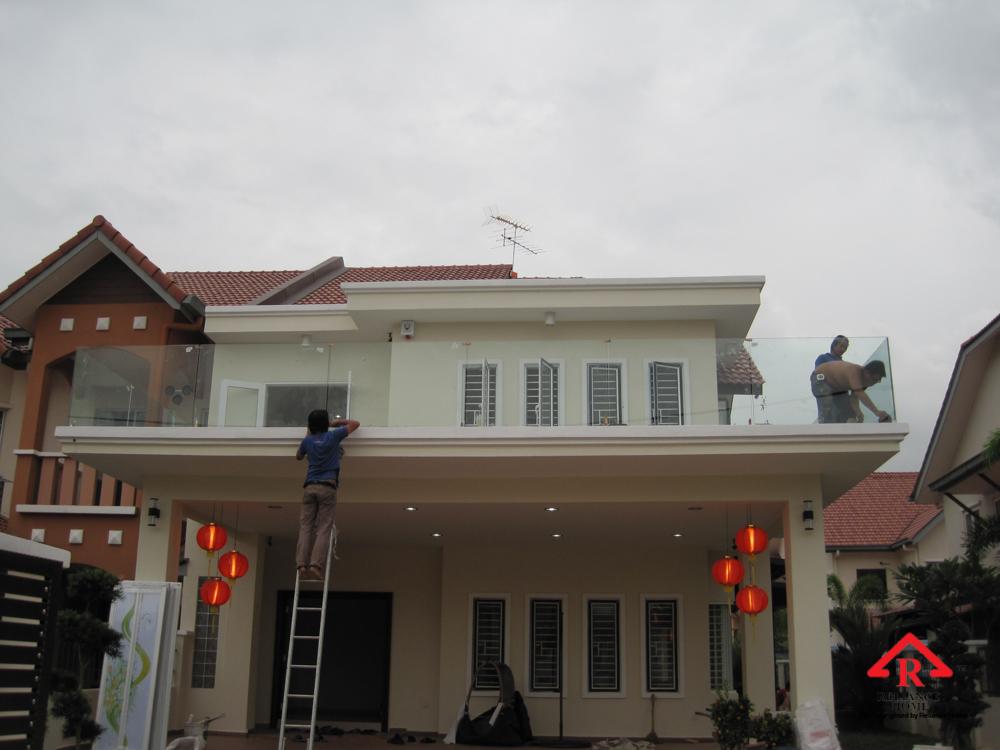 Reliance Home balcony glass U-channel type-38